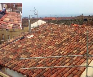 Proceso rehabilitación cubierta obra unifamiliar de Alesanco