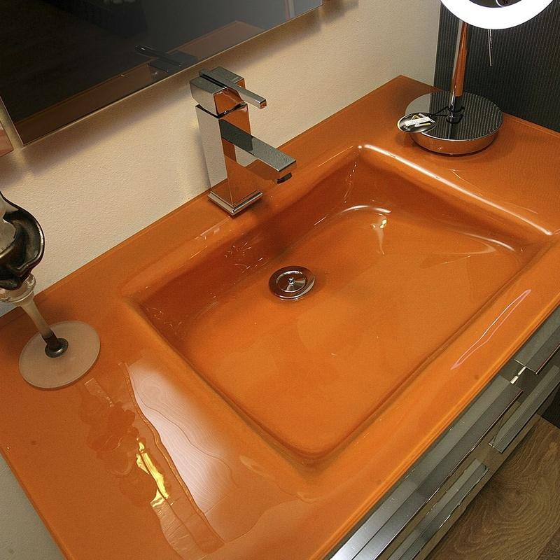 Encimeras para lavabo en cristal: Servicios de Cristalería Lara, S.L.