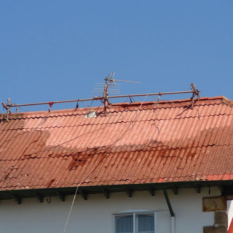 Limpieza de tejado de uralita Torrelavega-Santander