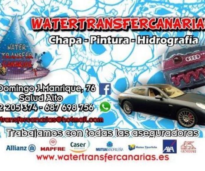 TALLER CHAPA-PINTURA E HIDROGRAFÍA WATERTRANSFERCANARIAS