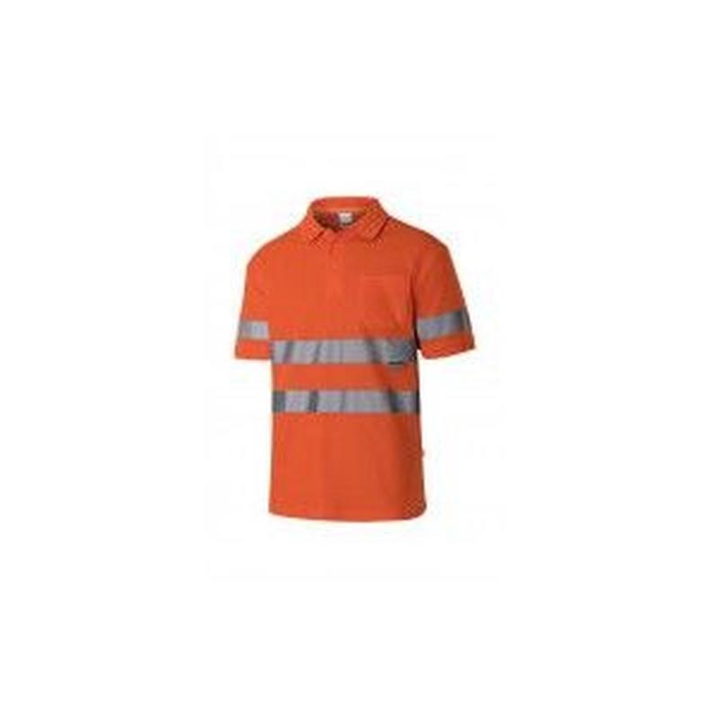 Serie 305512 / Polo algodón manga corta alta visibilidad: Nuestros productos  de ProlaborMadrid