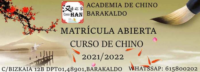 MATRÍCULA   ABIERTA: Servicios  de Academia de chino Barakaldo