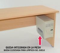 SOPORTE PARA CPU DE FIJACIÓN LATERAL A LA MESA