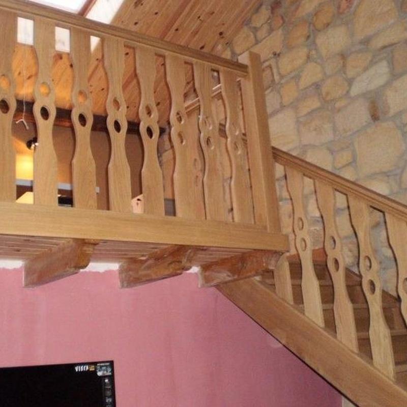 Escaleras: Trabajos en madera de Carpintería San Andrés