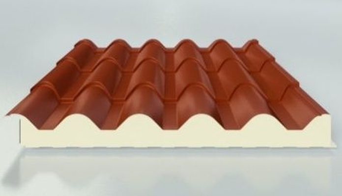 Panel Sándwich forma de Teja: Materiales - Distribuciones de AISLAMIENTOS LORSAN