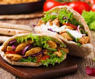 Dürüm o pita - Falafel: Carta de Döner Kebab Turco
