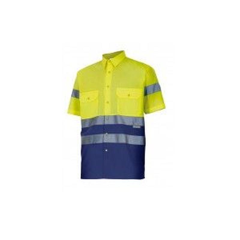 Serie 142 / Camisa bicolor manga corta alta visibilidad: Nuestros productos  de ProlaborMadrid