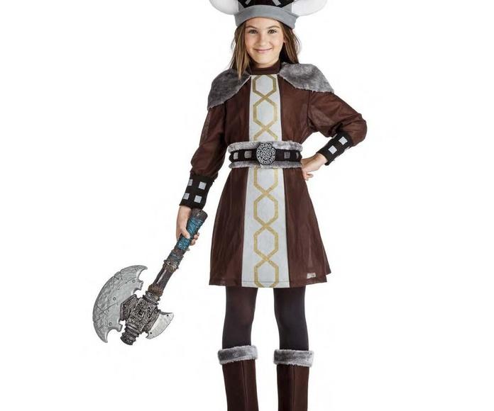 Disfraz vikinga marrón