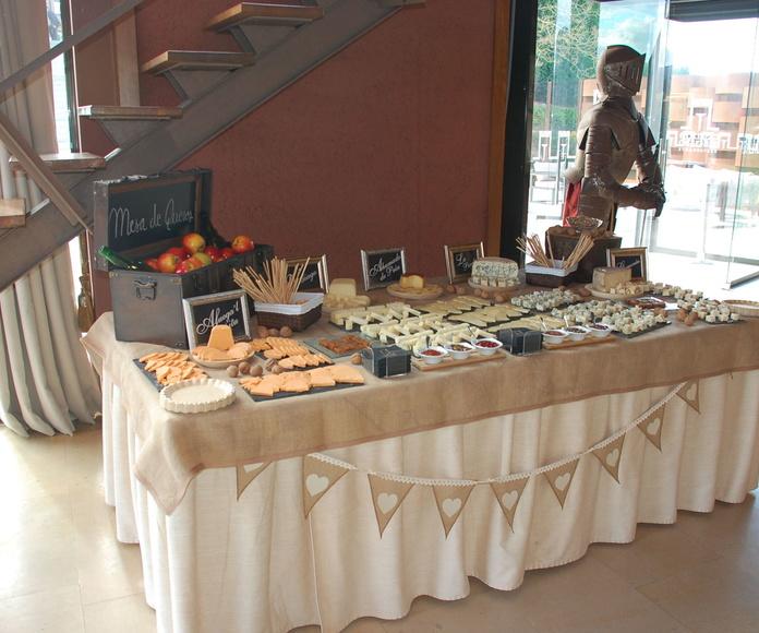 Mesa de quesos asturianos