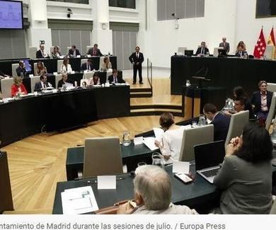 El pleno del Ayuntamiento de Madrid declara la emergencia climática