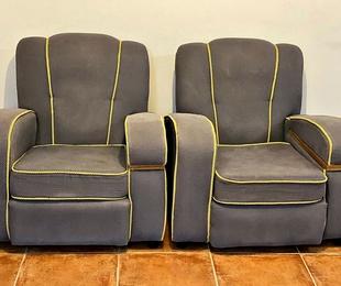 Conjunto de asientos Art-Decó Francés.