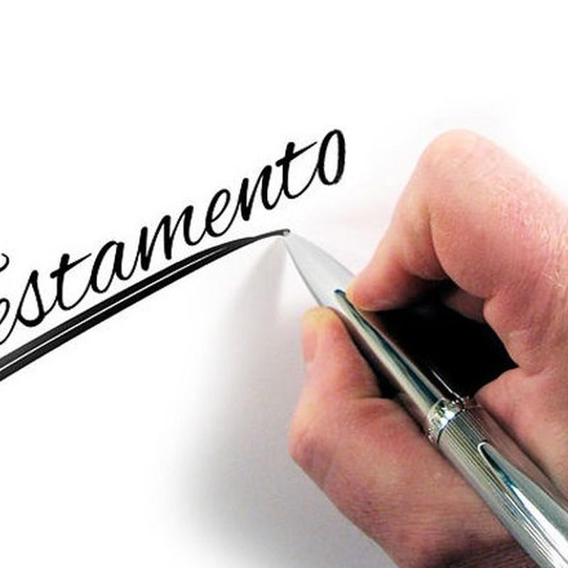 Testamentos: Áreas de actuación de Notaría Amparo Montesa Jarque