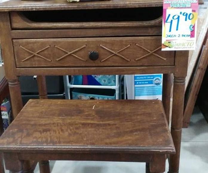 Pequeños muebles: Productos de Impacto Hogar