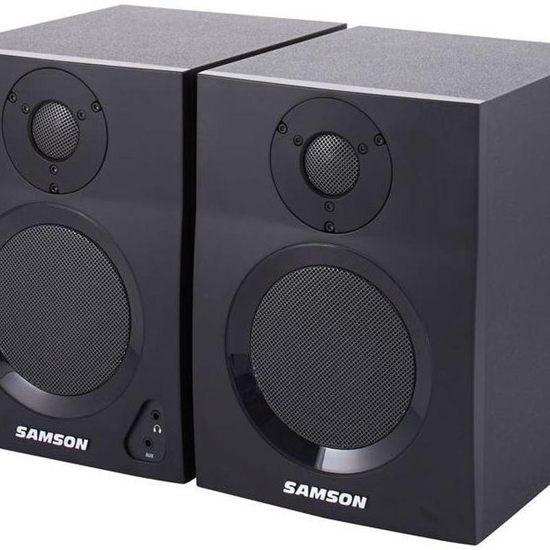 Monitores de estudio Samson BT4 de 2 bias con Bluetooth