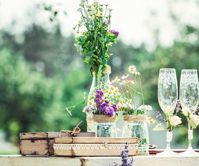 Consejos de decoración de jardines y bodas
