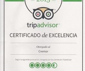 Certificado de Excelencia TripAdvisor 2015