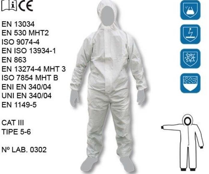 Protección quimica: Catálogo de FDS Protección