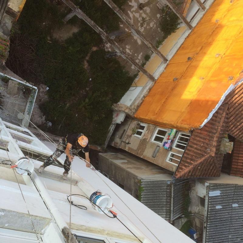 Tratamientos integrales de fachada con trabajos verticales