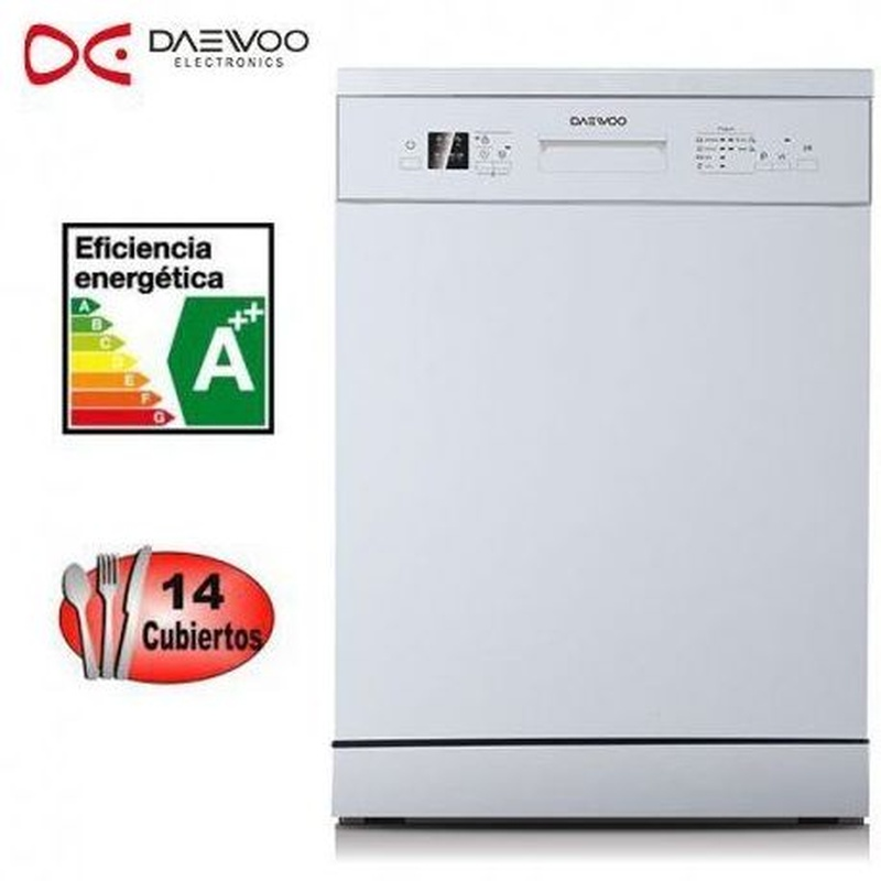 LAVAVAJILLAS DAEWOO DDW-MJ1411W 14/CUB A++ BLANCO ---249€: Productos y Ofertas de Don Electrodomésticos Tienda online