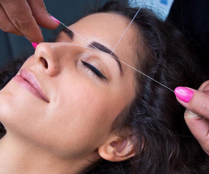 Depilación facial con hilo: Servicios de Nailstetic
