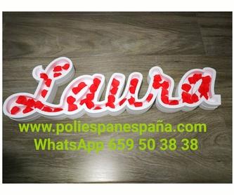 Letras de poliespan: Productos de Embadiseños