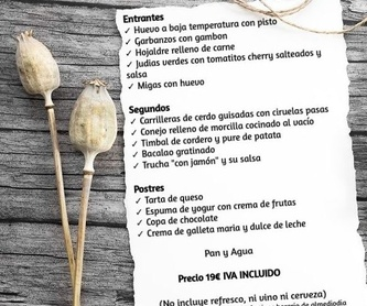 Platos y sugerencias: Carta de Restaurante Duque