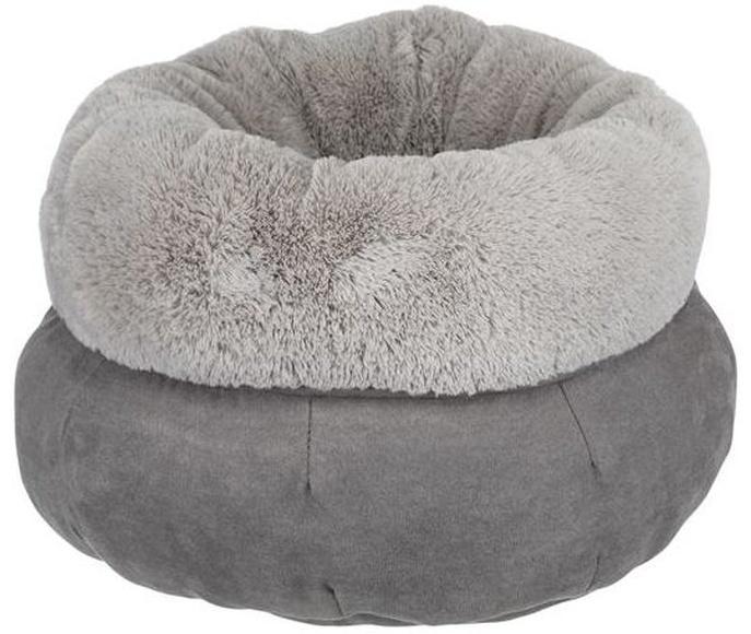 Cama Elsie para perros y gatos. Cama suave Trixie redonda gris. Tienda de animales Madrid