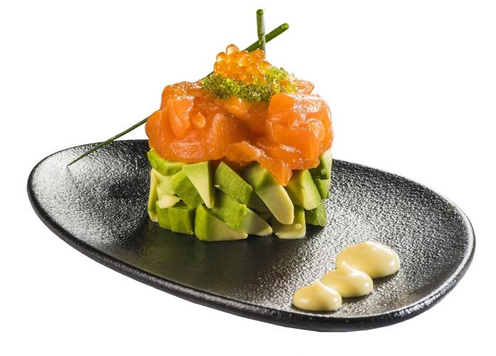 Tartar de salmón  9,50€: Carta de Restaurante Sowu
