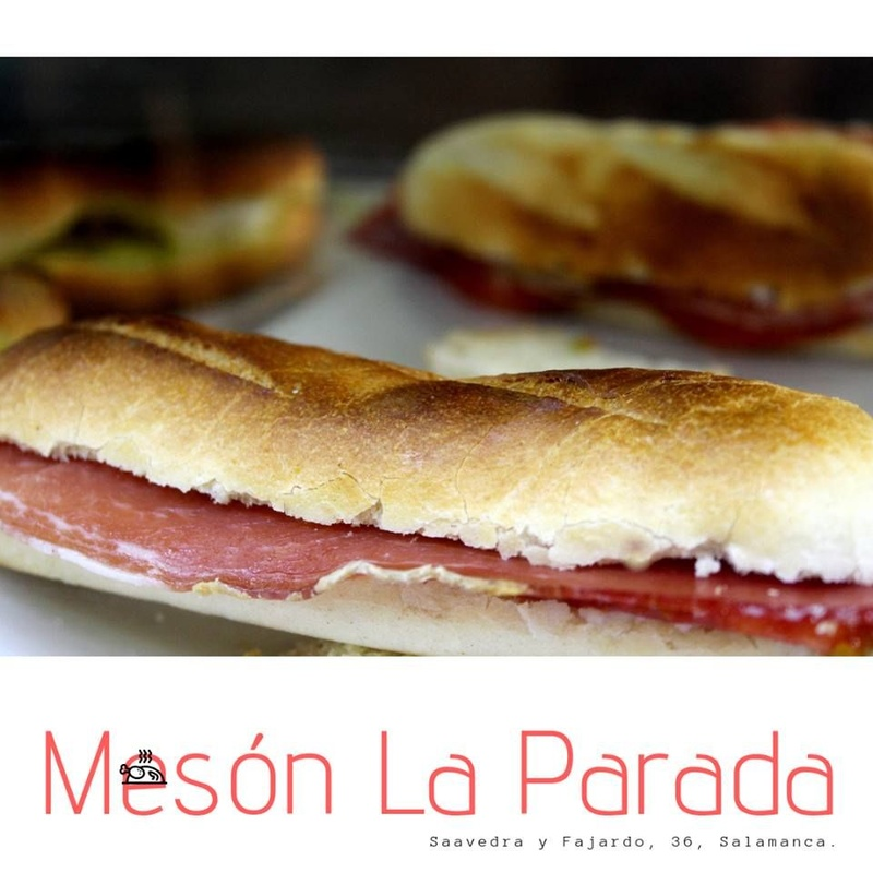 Bocadillos sandwiches y hamburguesas: Carta de Mesón La Parada