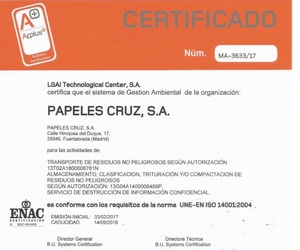 Ya tenemos la ISO 14001
