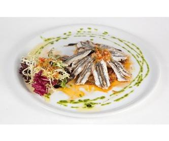 Pescados: Menús y carta  de Restaurante El Caserío