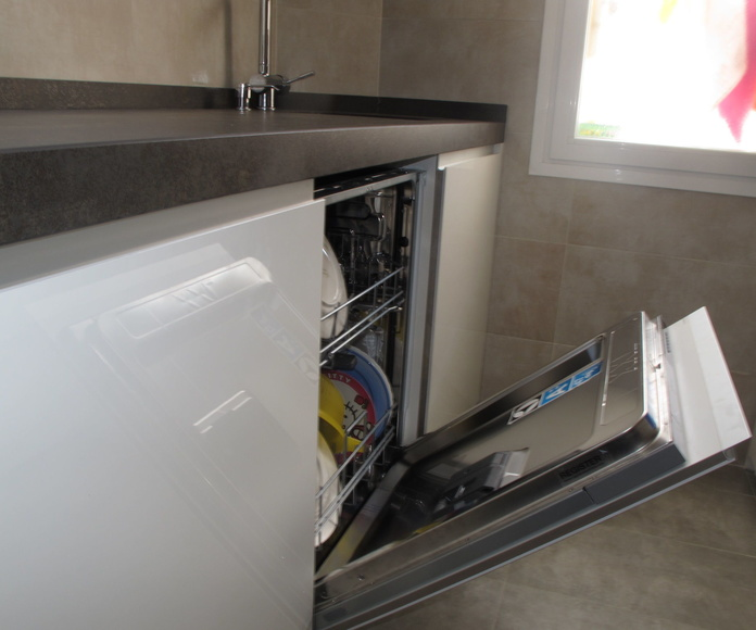 Integracion lavavajillas , lavavajillas XXL mas espacio de carga