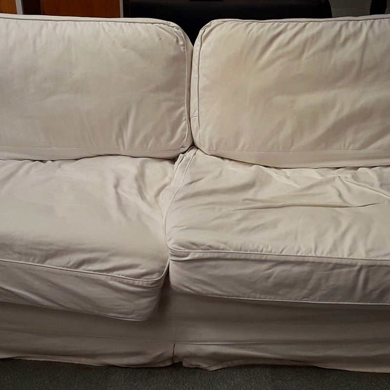 Sofa Grande Cojines Comodos BLanco OFERTA SOF034: HIPER RASTRO REMAR NAVARRA de Remar Navarra Mutilva