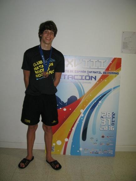 Álvaro Gómez, bronce en el Campeonato de España Infantil