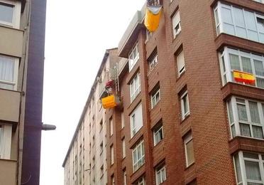 Desprendimientos en fachadas y aleros
