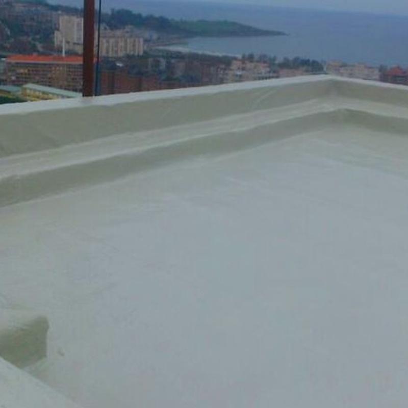 Reparación e impermeabilización de terraza en Santander. Suelo contínuo.