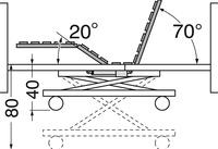 Cama eléctrica con carro elevador Orion