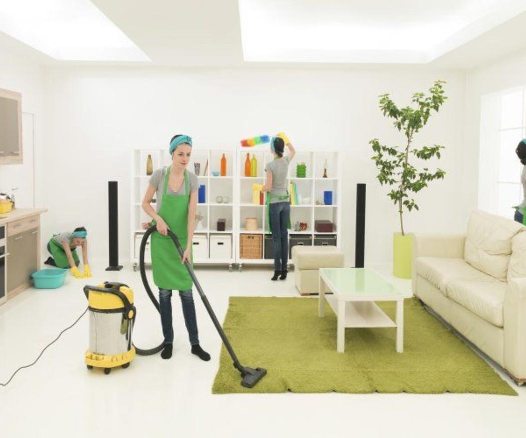Un profesional de la limpieza en el hogar