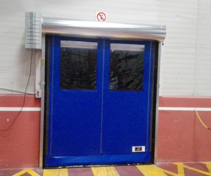 Puerta rápida enrollable autofull reparable Faremgies