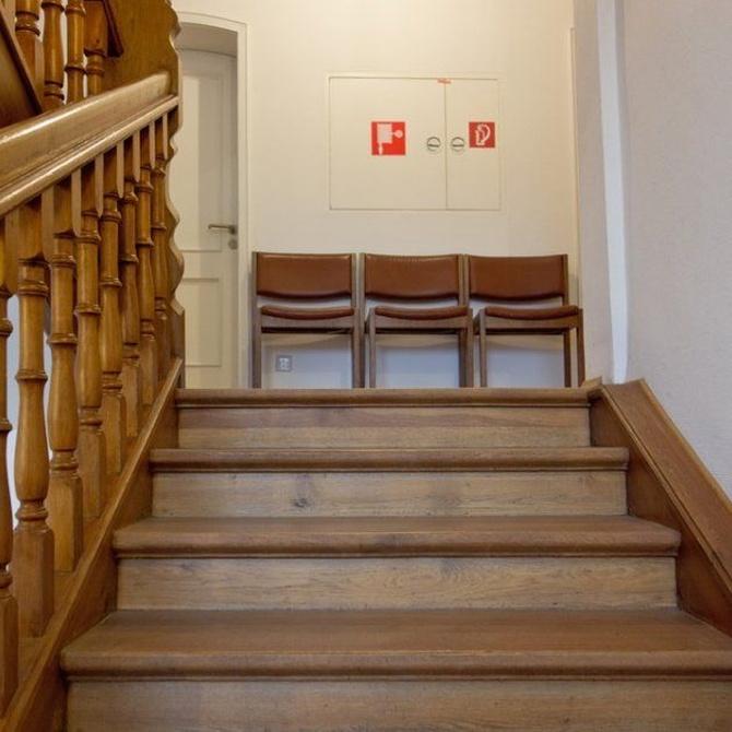 La versatilidad de las escaleras de madera