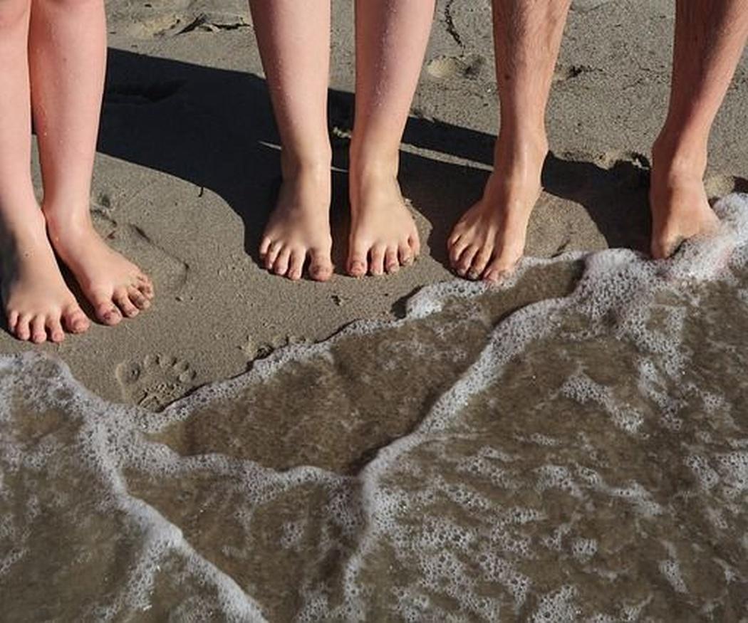 Cuidado natural de los pies cansados