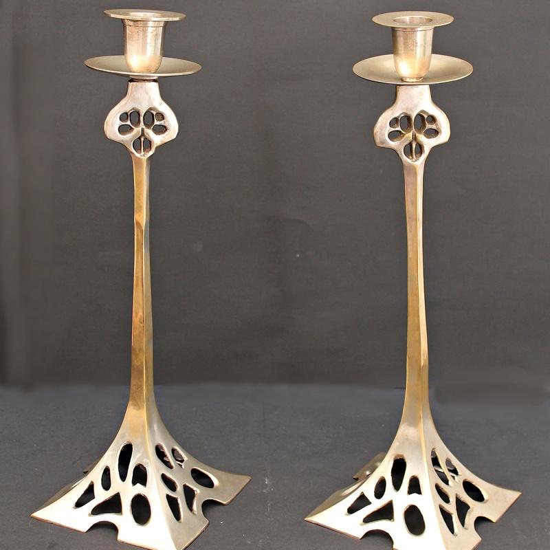 Candelabros Belgas Art Nouveau: Artículos  de Ruzafa Vintage