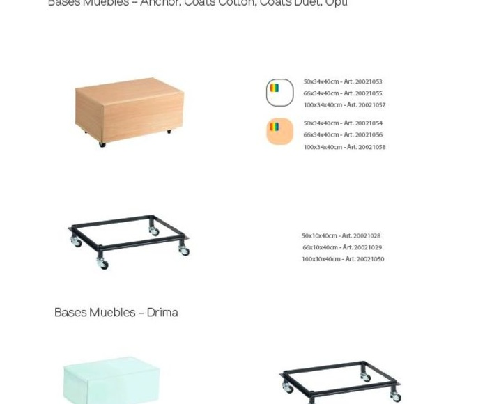 BASES MUEBLES