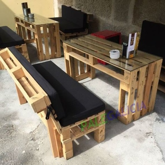 Sofá y mesa de palets: Productos de Palegalicia