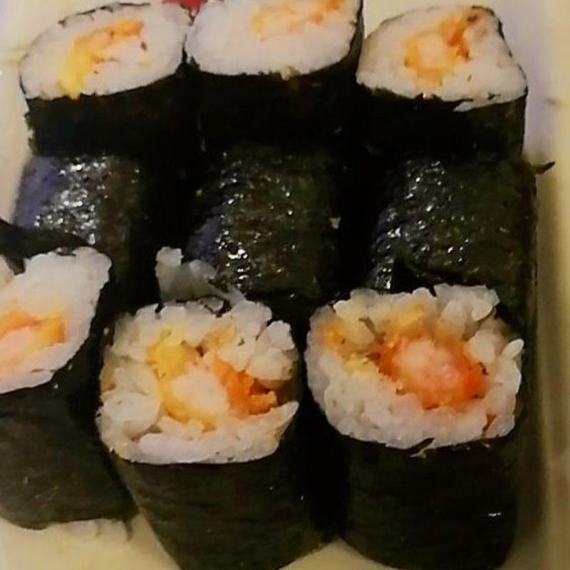 116.MAKI DE GAMBAS REBOZADAS 6 Piezas: Carta y menús de Yoshino