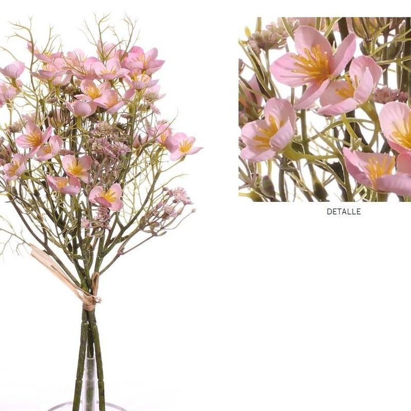 ATADO MINI FLOWER (40CM)/ ROSA REF: 7109_ROS PRECIO: 10,80€/PQTE (A 0,90€/UD)