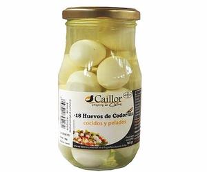 Huevo cocido de codorniz