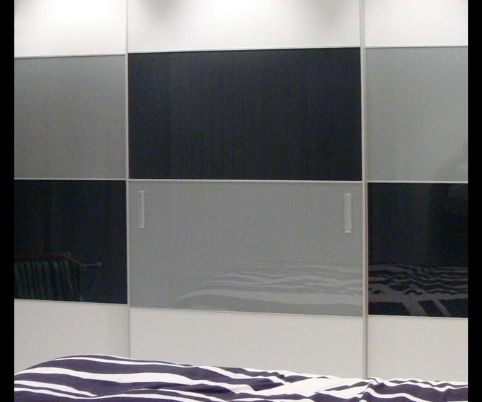 Armarios con frente de cristal // espejo.