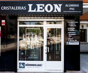 Cristaleria Leon situada en Alcorcón Plz. Sierra de Gredos, 3/cristaleria