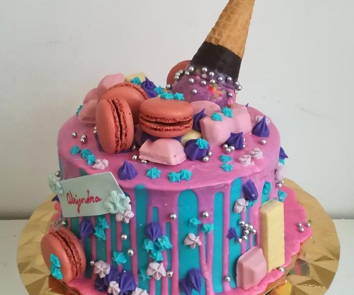 drip cake niña helado